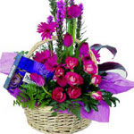 Gift Baskets Chocolates and Flowers Basket